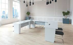 select u shaped table in white u shaped table14