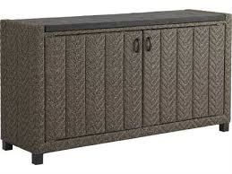 Outdoor console table Modern Sale Tommy Bahama Outdoor Blue Olive Wicker 60 16 Rectangular Buffet Patioliving Outdoor Patio Console Tables For Sale Patioliving
