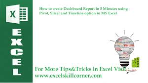 5 minutes to ms how to create dashboard report in 5 minutes using pivot slicer and