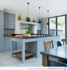Inspiring Blue Painted Kitchen Cabinets 16 Nicely Painted Kitchen