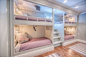 A set of four bunk beds is an example of what smart home design can be