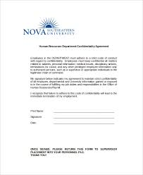10+ Human Resources Confidentiality Agreement Templates – Free ...