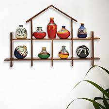 Small Picture Amazoncom ExclusiveLane 9 Terracotta Warli Handpainted Pots With