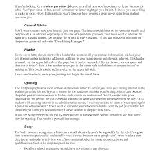 Marvelous Cover Letter For Part Time Job Photos Hd Goofyrooster