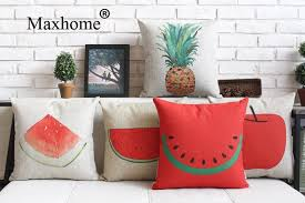 Small Picture Pastoral Painted Pillowcase Simple Fruit Cushions Decorative