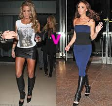 katie v victoria beckham in leather leg warmers who wore them best