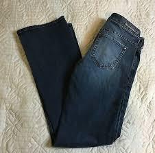 Express Jeans Boot Cut Low Rise Dark Blue Cotton Spandex