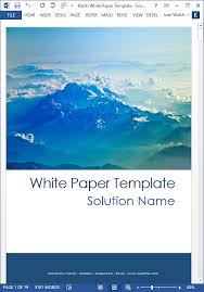 White Paper Templates 15 X White Paper Templates Ms Word Templates Forms