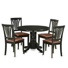 langwater traditional 5 piece pedestal dining set