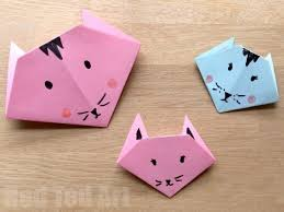 easy origami cats paper crafts for kids red ted art 039