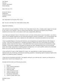 Cover Letter Format Nursing Job Plks Tk