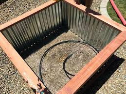 corrugated metal garden beds.  Corrugated Raised Bed Planter Wood For Garden Beds Perth With Corrugated Metal B