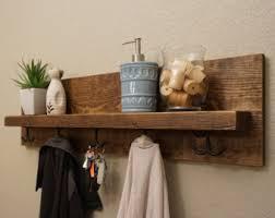 Rustic Wall Coat Rack With Shelf Corvallis Coat Rack with Floating Shelf 98