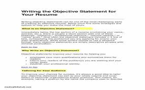 Resume Career Objective Statement Impressive Resume Objective Sentences Simple Resume Examples For Jobs