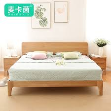 get ations japanese wood north american white oak solid wood bed double bed 1 5 1 8 logs large