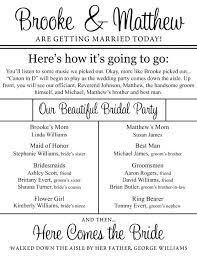 Fun Wedding Programs This Is A Cute Idea For Ceremony Program Maybe Someone Out