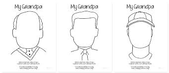 happy fathers day coloring pages for grandpa spectacular card colouring