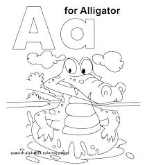 Alphabet Coloring Pages Free Spanish Worksheets For Kindergarten