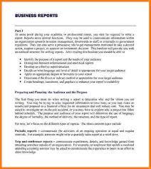 Report Business Format For A Business Report 6 Reinadela Selva
