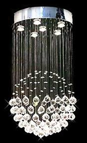siljoy modern chandelier rain drop lighting crystal ball fixture within sphere with crystals ideas 5