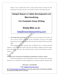 sample report on s development and merchandising by instant essay 9