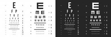 Eyes Test Charts Latin Letters Ophthalmic Test Vector