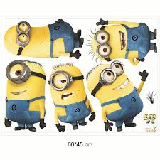 minions deable me 3 removable kids decor art decals diy wall