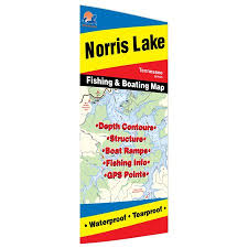 Norris Lake Fishing Map Walmart Com