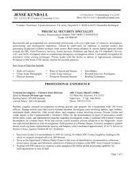 Resume Government Security Guard Cover Letter Best Inspiration