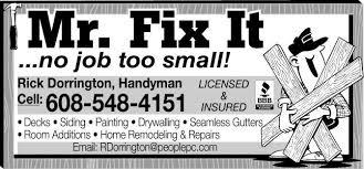 handyman madison wi. Unique Madison Home Imp Ad In Handyman Madison Wi R