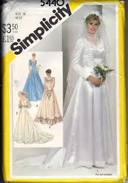 Simplicity Wedding Dress Patterns Beauteous Simplicity 48 Wedding Dress Vintage Pattern UNCUT [48] 4848