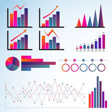 Graph Templates Collection Multicolored Flat Shapes Free