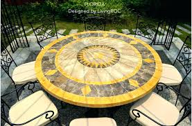 patio stone top patio table fresh or umbrella hole new round marble outdoor mosaic melbourn