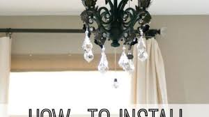 glamorous ceiling fan chandelier light kit in how to install a for new year room