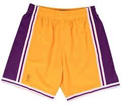 Mitchell And Ness Swingman Size Chart Mitchell Ness Mens Lakers Swingman Shorts Gold Purple