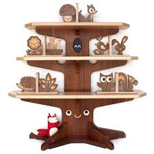 I would love this happy tree bookshelf with book ends for my kids but it is