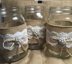 Popular items for burlap mason jars on Etsy