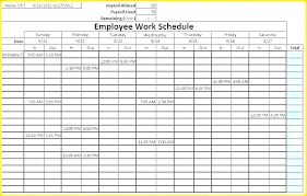 Printable Work Schedule Templates Free Work Schedule Format Free Download Templates 9 Monthly Template
