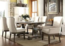 round rustic dining table set 9 piece acme modern with bench