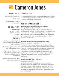 College Resume Template 2017 Resume Builder