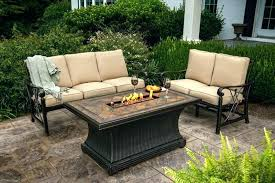 fire pit patio tables table propane sierra patio table with fire pit furniture sets
