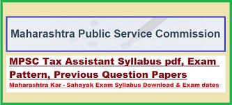mpsc taxassistant kar sahayak syllabus 2016 pdf question paper tax assistant