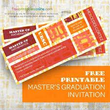 Painted Masters Graduation Invitation Free Printables Online