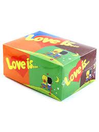 <b>Жевательная резинка Love is</b> MIX 80 шт (четыре вкуса) Вкусная ...