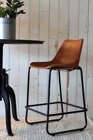 Incredible Leather Bar Stool With Back Industrial Brown  Stools Leather Bar Stools With Back R92