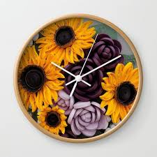 Paper Quilling Flower Frames Sunflowers Roses Paper Quilled Flowers Wall Clock By Wondercraftshop