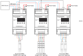 constant voltage din rail mounted 4 channels dmx rdm led wiring diagram