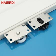 naierdi door rollers stainless steel sliding door wheel cabinet nylon pulley hanging wheel for wardrobe furniture