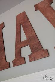 Stained Wood Wall Letters