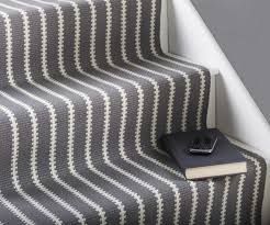 ... Beautiful Carpet For Stairs Featuring Grey Fabric White Beautiful Stripe  Runner And Stained Striped Runners S